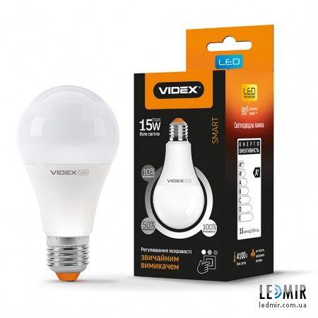 Светодиодная лампа Videx A65e dimm 15W-E27-4100K